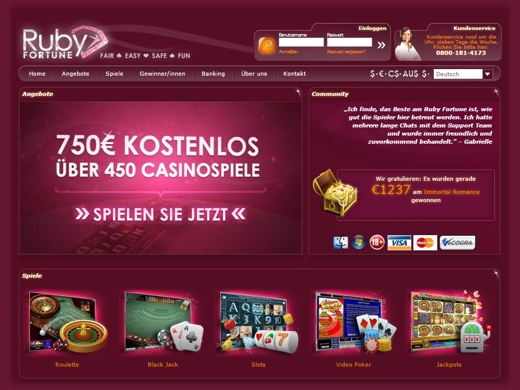 Rubyfortune online Casino